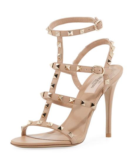 e1debce9b86bf Valentino Garavani Rockstud Leather 105mm Sandals