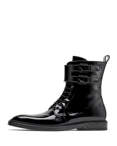 Landrey Flat Combat Boots