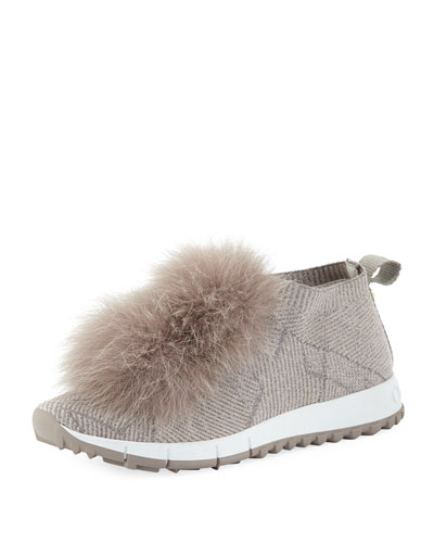 Norway Slip-On Sneakers with Fur Pompom