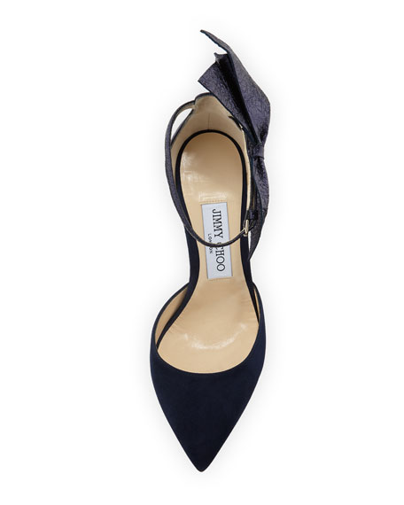 Kathrine Suede and Crinkled Pumps