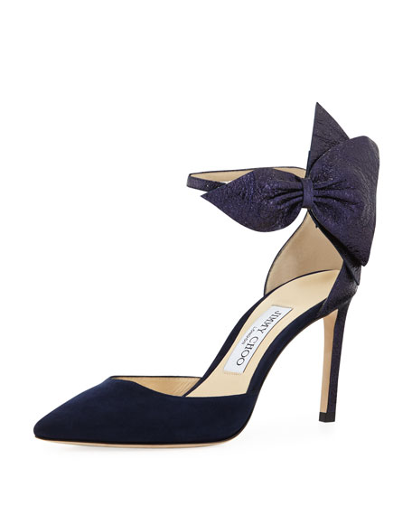 Image 1 of 1: Kathrine Suede and Crinkled Pumps