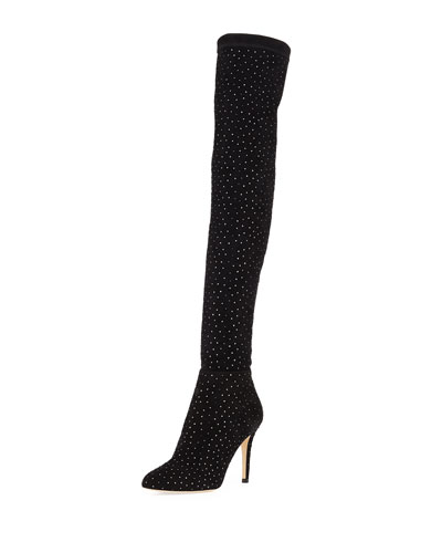 Toni Over-The-Knee Embellished Boots