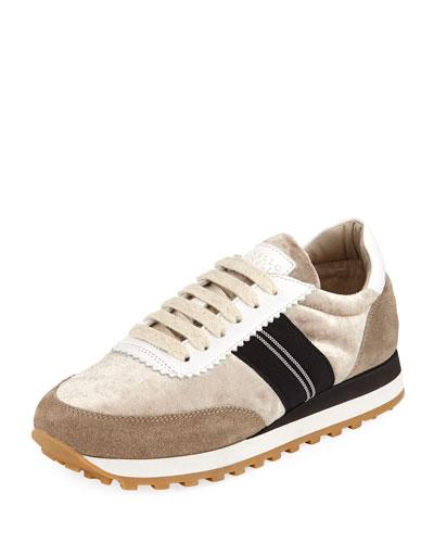 Shiny Velvet Runner Sneaker