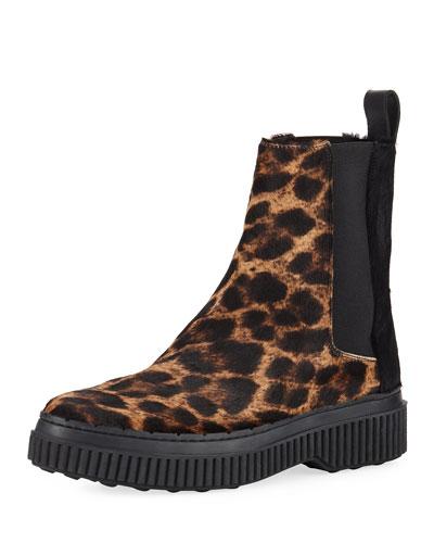 Winter Gommini Leopard-Print Chelsea Boots