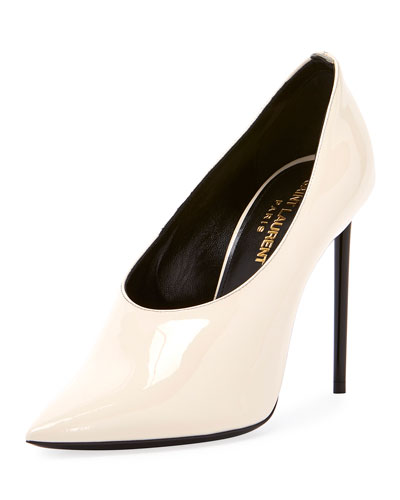 Teddy High-Vamp Patent Leather Pump