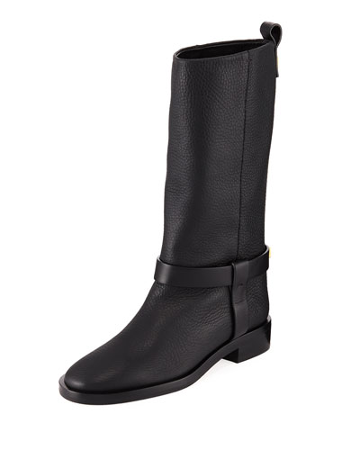 Casey Chic Leather Mid-Calf Boots