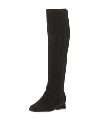 Eloise 30mm Suede Knee Boots