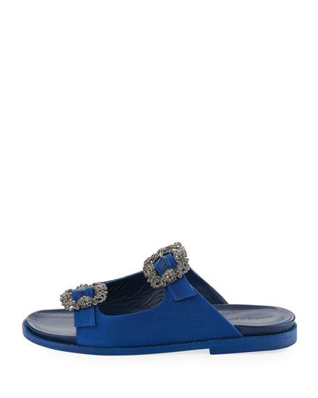 professional sale online clearance get to buy Manolo Blahnik Satin Slide Sandals wide range of cheap online PPFsoUCe