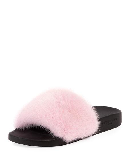 2ca4058c346 Givenchy Mink Fur Slide Sandal