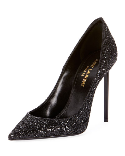 Zoe Glitter Pointed Pumps