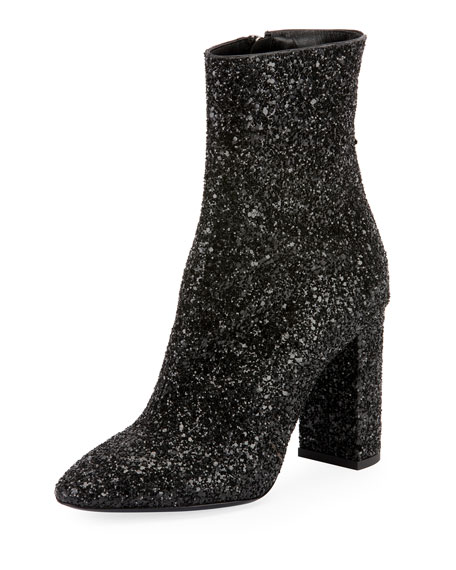 Lou Glitter Zip Booties
