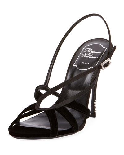 Sin Star Velvet and Satin Sandals