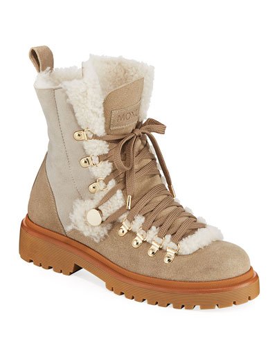 Berenice Stivale Fur-Lined Hiking Boots