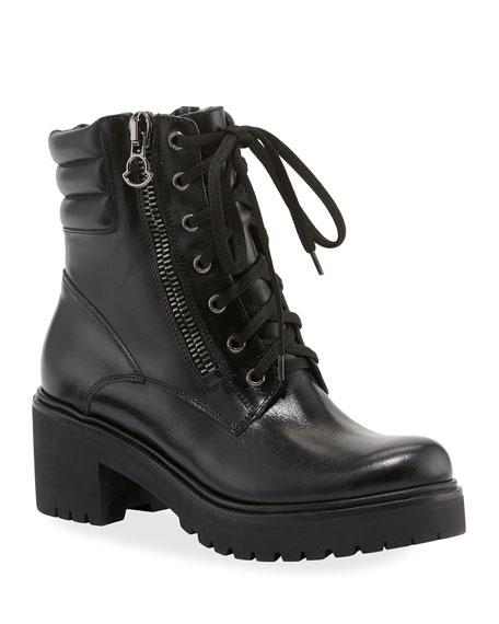 Mm Viviane Scarpa Leather Hiker Boots in Black