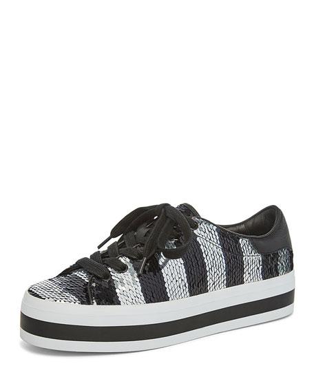 eaa918c521b6 Alice + Olivia Ezra Sequin StaceFace Platform Sneakers