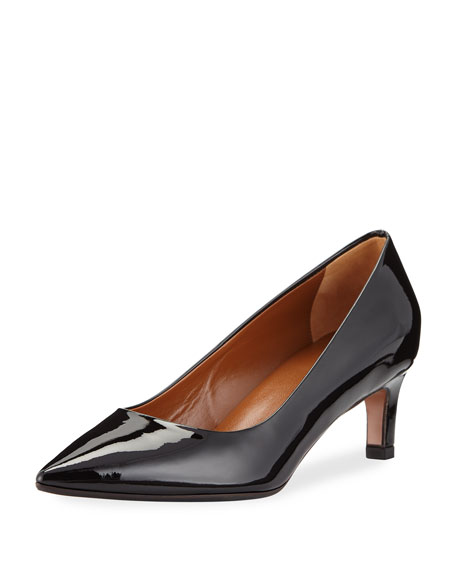 Mariana Patent Leather Pumps, Black