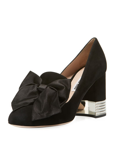 Decollete Pumps with Bow
