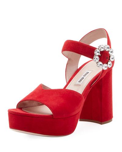 Suede High Platform Sandals
