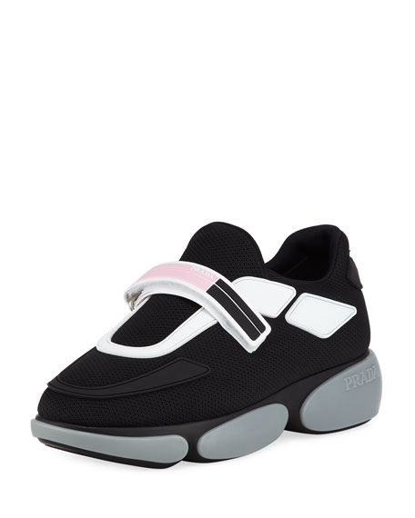 763276d6c31ad Prada Sport Knit Colorblock Sneakers