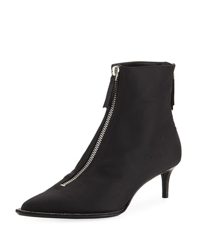 Eri Diamonte Silk Low-Heel Booties