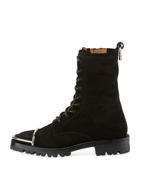 Alexander Wang Kennah Suede Lace-Up Boots 4977a637014e