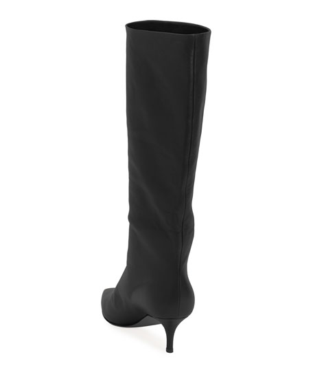 Lamb Leather Mid-Calf Boots
