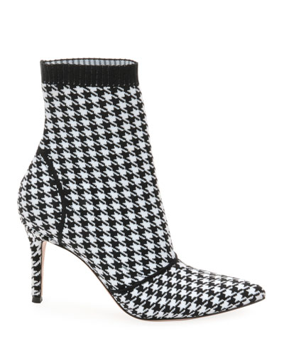 Stretch Booties in Houndstooth