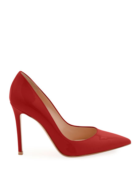 Gianvito Patent Point-Toe 105mm Pumps