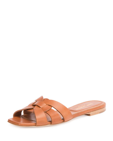 Image 1 of 1: Woven Leather Sandal Slide