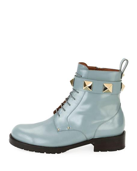 f50faa9b1b42d0 Valentino Garavani Rockstud Leather Combat Boot