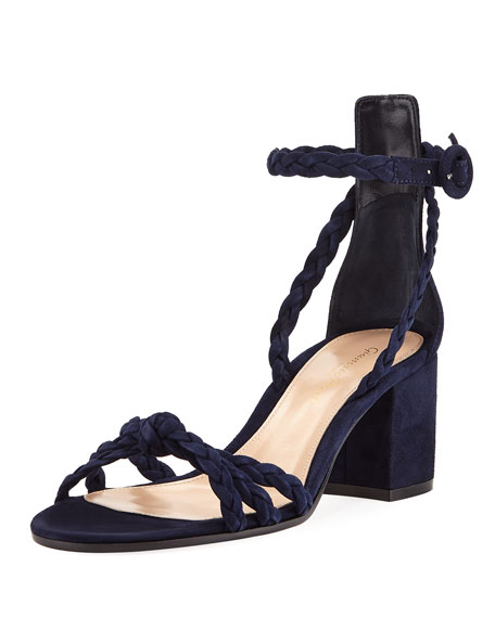 Gianvito Rossi Braided Suede 60mm Sandal kPgqx2Et