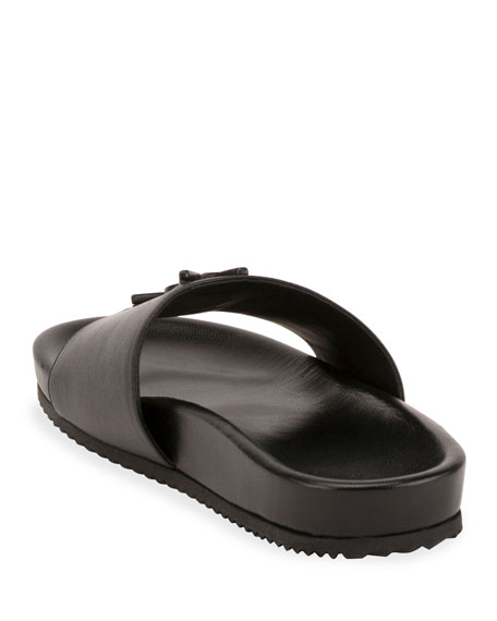 a0e93dfd4 Saint Laurent Joan YSL Brooch Slide Sandal