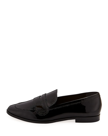 Beatrix Pinked Patent Loafers