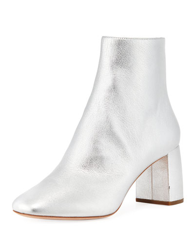 Cooper Metallic Zip Booties