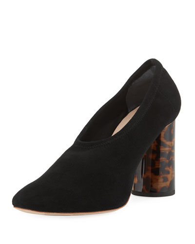 Elyn Stretch Suede Pumps