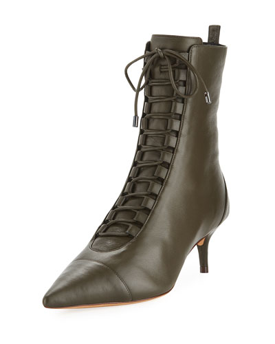 Millen Leather Lace-Up Booties