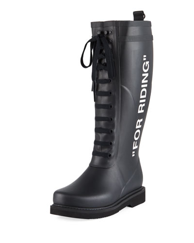 For Riding Quote Wellington Rain Boots