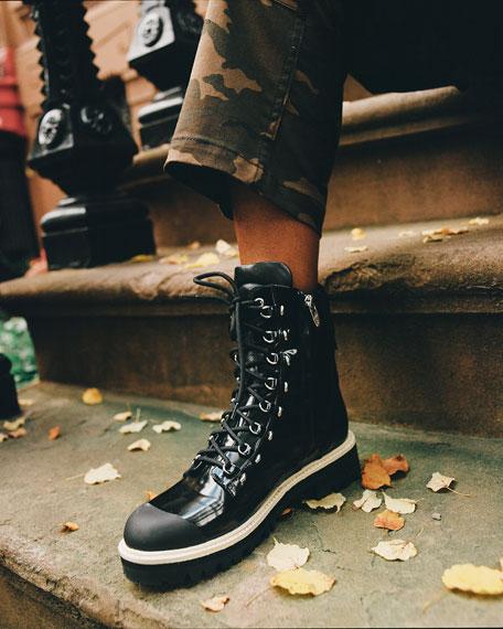 Lace-Up 40mm Combat Boots