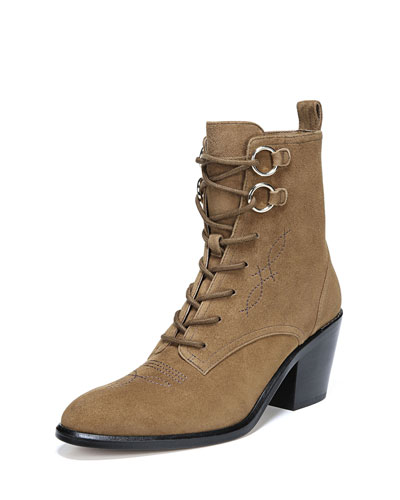 Dakota Sport Suede Lace-Up Boots