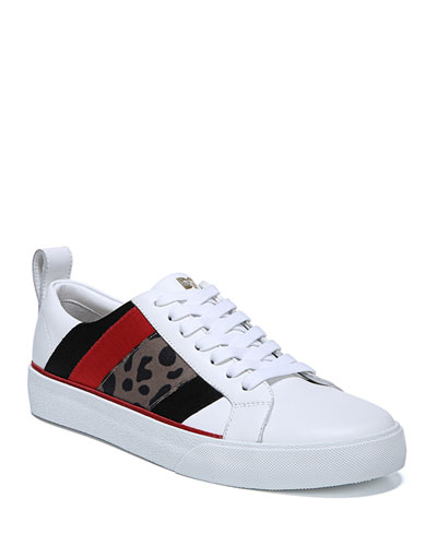 Tess Leather Sneakers with Mixed Panels