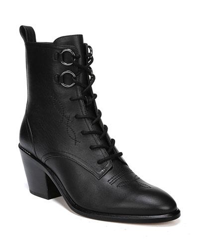 Dakota Leather Lace-Up Boots