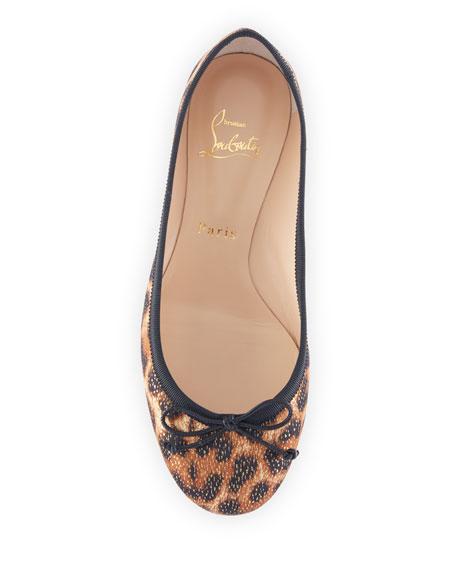 new concept b616c f0c77 La Massine Leopard Spikes Red Sole Ballet Flats