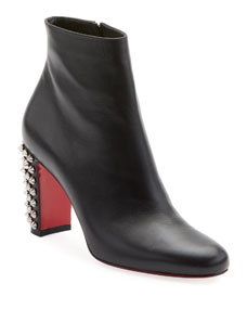 Suzi Folk Leather Red Sole Booties by Christian Louboutin