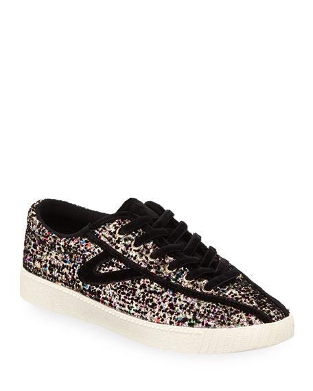 Nyliteplus 5 Glitter Sneakers, Black