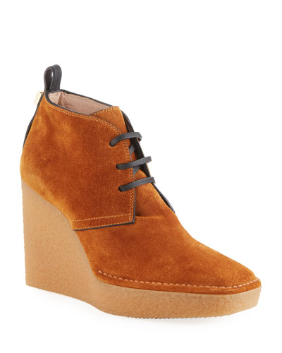 Naomi Suede Wedge Booties