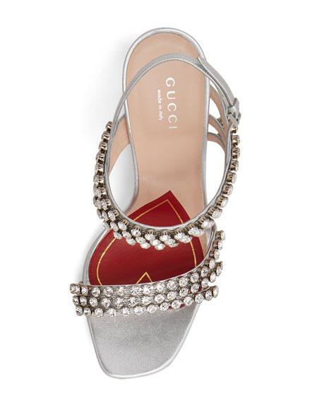 Bertie Crystal Strappy Sandals