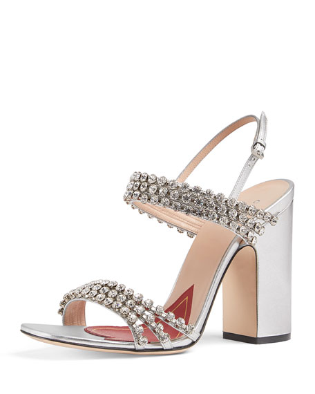 Gucci Bertie Crystal Strappy Sandals