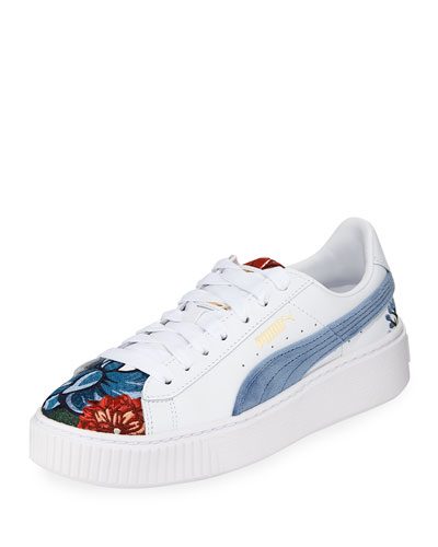 Hyper Embroidered Platform Sneakers