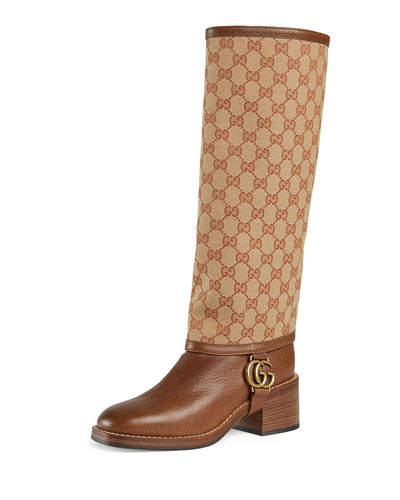 Lola GG Canvas and Leather Riding Boots