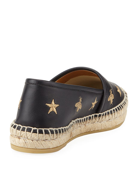 Star and Bees Flat Espadrilles